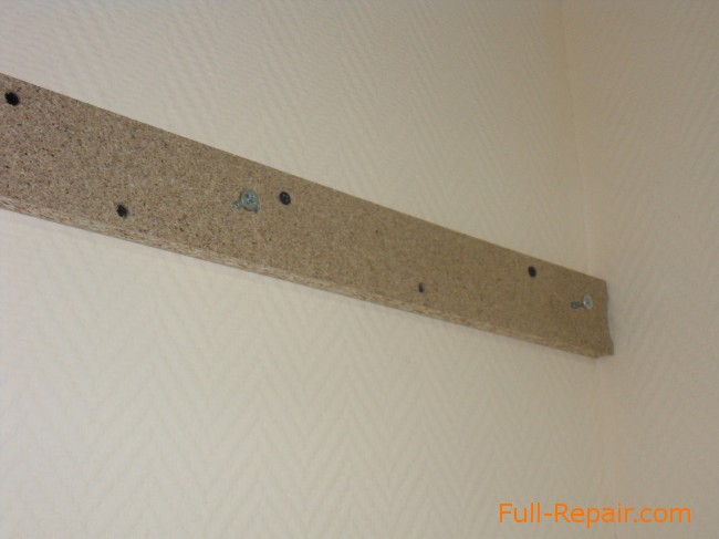 Kitchen Cases On The Walls Of Plasterboard